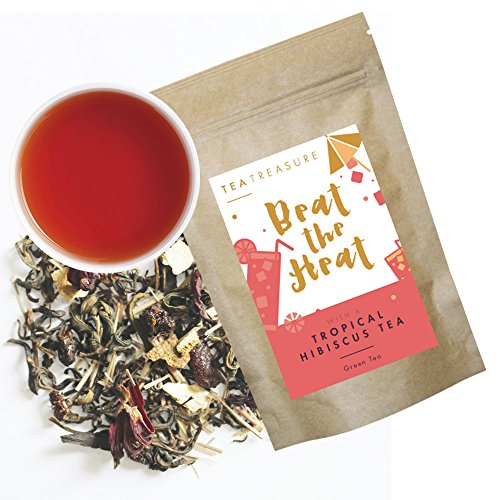 Tea Treasure Tropical Hibiscus Loose Leaf Green tea - 50 Gm