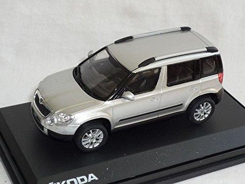 SKODA-YETI-2009-143AB-014AB-DIAMANT-SILBER-METALLIC-143-ABREX-MODELLAUTO-MODELL-AUTO