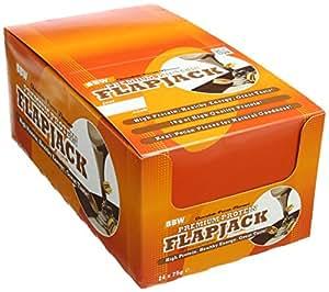 Bodybuilding Warehouse Chocolate Pecan Premium Protein Flapjack - Pack of 24 Bars