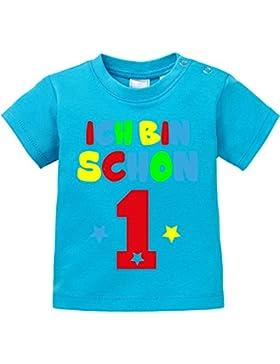 EZYshirt® Ich bin Schon 1 | Bio Baumwolle Baby T-Shirt | Geburtstagsgeschenk