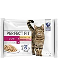 Perfect Fit Adult 1+ Cat Mixed Meaty Pouches, 85 g (Pack of 4)