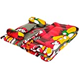 Feathers-Nature's Touch Polycotton 5Pcs Baby Bedding Set Red & Black(0-18Months)