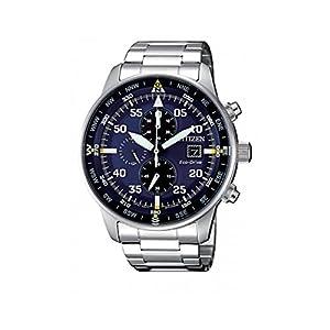Citizen, Reloj con cronógrafo para hombre, de la colección Aviator Chrono