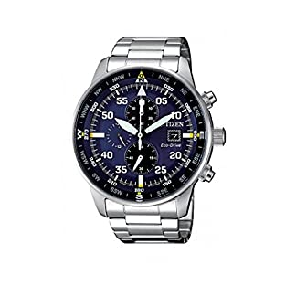 Reloj de Cuarzo Citizen of Crono Aviator, Eco Drive B612, 44 mm, CA0690-88L