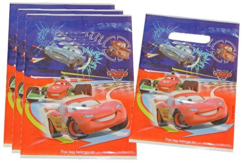 6 Stk. Partytüten Disney Cars Geburtstagstüten Folie Mitgebsel Tüten Tasche Lightning Mc Queen Auto