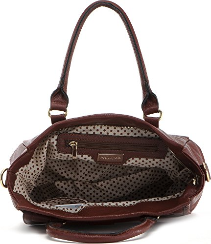 MASQUENADA cntmp sac à main, cabas pour femme (tote-bags sac x 26,5 x 27 12 cm (H x L x P) Marron - Cognac