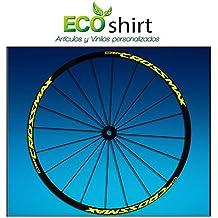 Ecoshirt EQ-7F31-IHCX Pegatinas Stickers Llanta Rim Mavic Crossmax SL Pro Am50 MTB