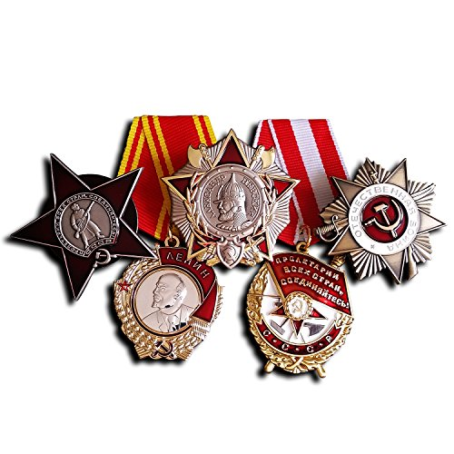 5x Order of Lenin , Red Star , Patriotic War , Red Banner & Nevsky Russian Repro