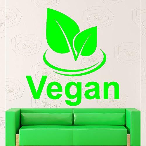 Vegane Gesundheit Natur Vinyl Wandaufkleber Kunstwandhauptdekor Wohnzimmer Abnehmbare Schlafzimmer Dekoration Wandtattoo Tapete grün 42x44 cm