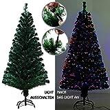 EFORINK 210CM Weihnachtsbaum mit Glasfaser-Farbwechsler, Weihnachtsbaum, Tannenbaum, Dekobaum, Grünen Christbaum, mit Metallständer, Künstlicher PVC Weihnachtsbaum