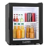 Klarstein MKS-13 • Minibar • Mini-Kühlschrank • Getränkekühlschrank • 32 Liter • geringer Energieverbrauch • leiser Betrieb • 1 Regaleinschub • höhenverstellbar • Glastür • schwarz