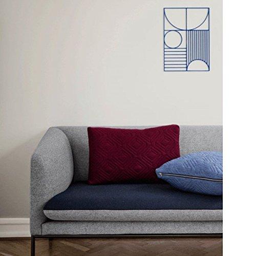 Ferm Living – Quilt Cushion – Kissen – Bordeaux – 60 x 40 - 3