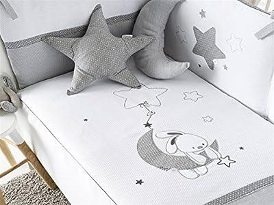 Pirulos - Set para Cuna Luna Gris 60x120 cm