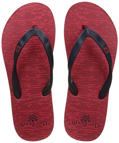 Woodland Men's Red Flip Flops Thong Sandals - 8 UK/India (42 EU)  available at amazon for Rs.349
