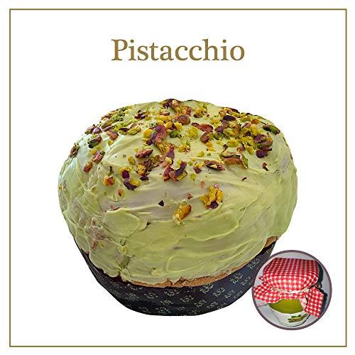 Panettone artigianale al pistacchio prodotto italiano di qualità ottimo da 1 kg confezione prestige