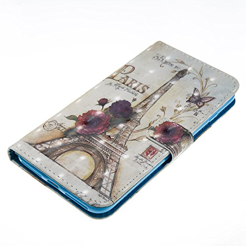iPhone 8 Plus Hülle,iPhone 7 Plus Hülle,Grandoin® Handyhülle im Brieftasche-Stil für Apple iPhone 7 Plus/iPhone 8 Plus 5.5 Handytasche PU Leder Flip Cover 3D Bunte Muster Book Case Schutzhülle mit [a Turm