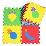 10 Stück Puzzle/Umweltschaumstoffmatten Kinder & Baby Foam-Spiel-Matten-Frucht