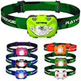 RAYVENGE T3A LED Headlamp with Red Light - Lightweight headlamp Flashlight for Running, Hiking, Camping - Best Headlamps with 3 AAA Batteries, 168-Lumen, Waterproof, Long Battery Life (Neon Green)