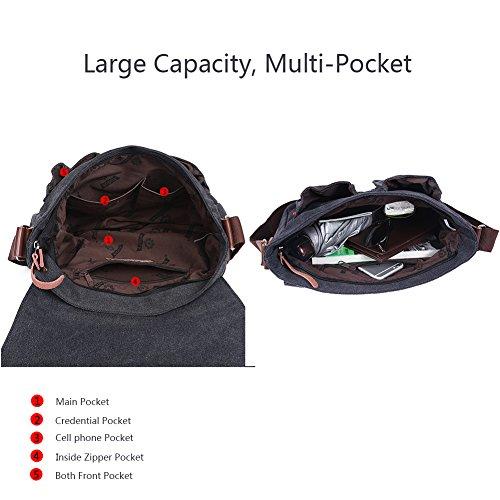 EGOGO Messenger Umhängetasche Kausale Tag Tasche Business Aktentasche Laptop Tasche Schultertasche Braun