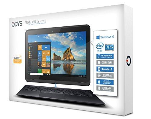 Odys Prime Win 12 2in1 295 cm 116 Zoll Tablet PC Intel Atom Quadcore x5 Z8350 2GB RAM 32GB whizz HDD Win 10 schwarz Notebooks