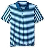 adidas Golf Herren UFO Ultimate Stripe Polo, Herren, Ash Blue/Real Gold, Large