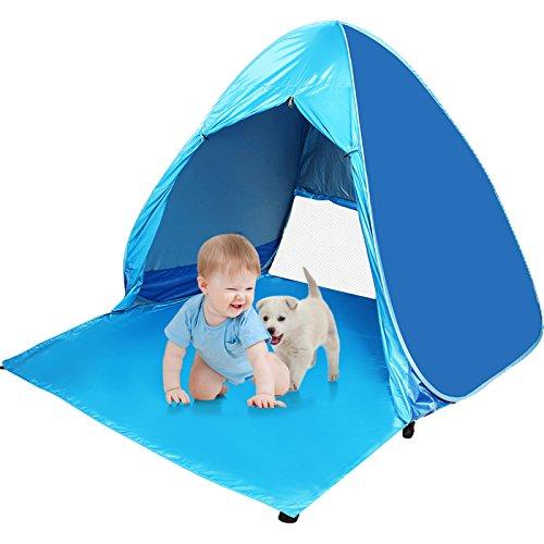 Tienda Pop Up Actividad Infantil para la Playa con Puerta Cremallera, Tienda de Campaña para Campamento, Senderismo, Pesca,Playa (2 a 3 niños)