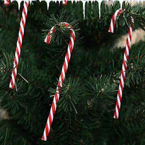 Juzie 6 Piezas de plástico para Bastones de Caramelo para árbol de...
