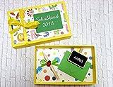 Geldgeschenk Geschenk zur Einschulung Mädchen Junge Wunschname Geschenkschachtel Gutscheinverpackung personalisierbar