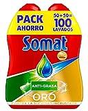 Somat Gold Spülmaschinen Gel Fett–100Wäschen (1.8L)