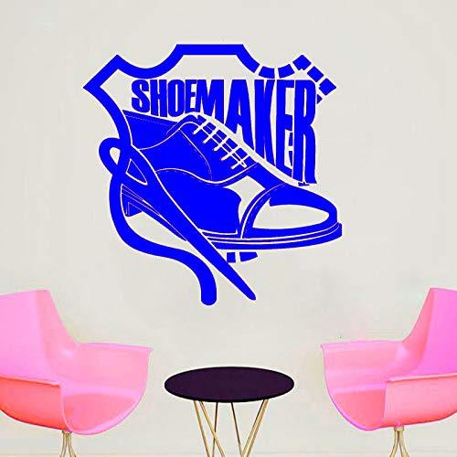 yaoxingfu Handgemachte Schuster Nähen Studio Leder Schuhe Decals Vinyl Wandaufkleber Schneider Abnehmbare Innendekoration Wandbilder ww-4 91x92 cm