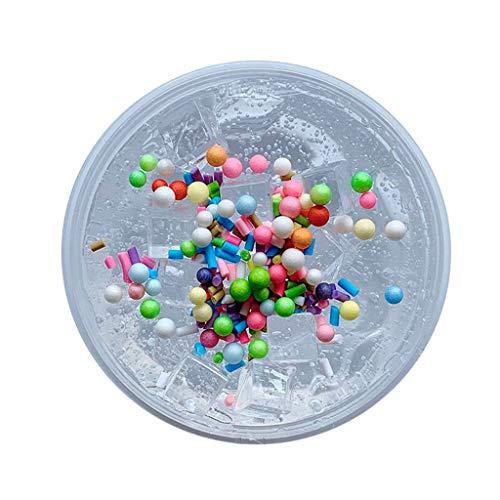 Weiße Schokolade-schaum (Dapei Eiswürfel Schokolade Stil Schleim Kinder Spaß Crazy Floam Schlamm Duft Entlastung Charme Langsam Steigende Simulation Lehm Spielzeug Glänzendes Geschenk, 60ml (Weiß))