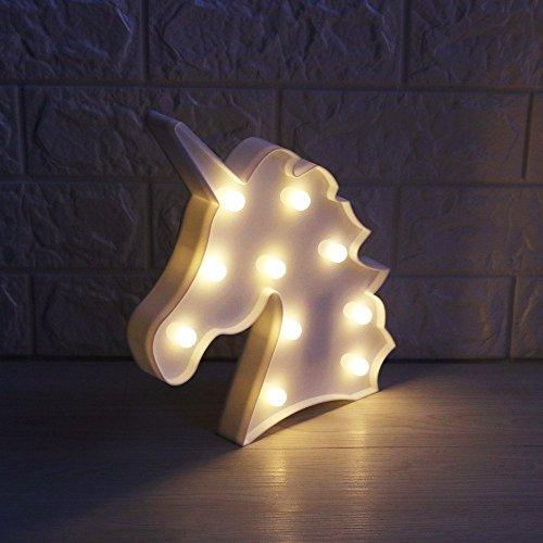 Liqy Einhorn Leuchten für Kinder Nachtlichter Schlummerleuchten Außenwandleuchten Küche Haushalt Wohnen Möbel Wohnaccessoires Kinderzimmerdekoration