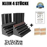 Super Dash 4 Stücke von 12 X 12 X 24 cm Bass Strap Akustikschaumstoff Noppenschaumstoff Akustik Dämmmatte Schallisolierung Schaumstoff Polster Fliesen SD1133