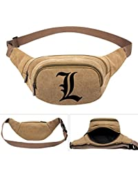 Buyworld Note Printed Suspense Anime Men's Women Canvas Waist Pack Bag Pouch Belt Travel Hip Casual Fanny Bag...
