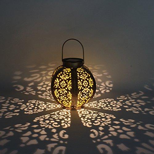 Ledmomo - Farol solar para iluminación de exteriores, farolillo solar colgante, resistente al agua, luz LED, iluminación de paisaje para patio, terraza o jardín