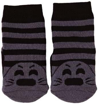 Country Kids Slipper Seal Animal Print Socks, 1-3 Years (Manufacturer Size:1-3 Years), (Black)