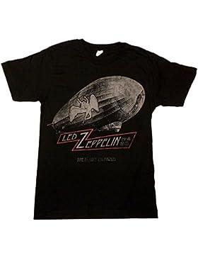 Led Zeppelin - - Hombres EE.UU. Ciudades Gira 1977 de la camiseta de Negro