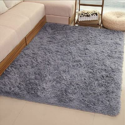 CAN_Ddeal Fluffy Anti-skid Shaggy Area Rug Yoga Carpet Home Bedroom Floor Dining Room Mat - low-cost UK light store.