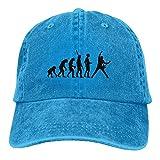 Evolutionary Black Guitar Denim Hat Adjustable Men's Vintage Baseball Cap