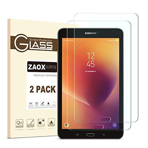 Galaxy Tab A 8.02017Displayschutzfolie Glas, zaox gehärtetem Glas Displayschutzfolie für Neue Samsung Galaxy Tab A 20,3cm 2017Version (sm-t380) [Kratzfest] [blasenfrei], 2er-Set - Galaxy Bildschirm-glas Tab Samsung