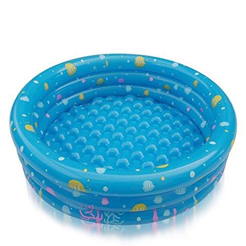 Runde Form mit 3 Ring-Bau-Familien-Aufenthaltsraum-aufblasbarem Pool schwimmt für Erwachsen-Kinderblau-Grün-Sommer-aufblasbares Pool-Kinderpool , Weitere Stile ( Farbe : Blau , Größe : YT-027(A) ) (Runde Pool Schwimmt)