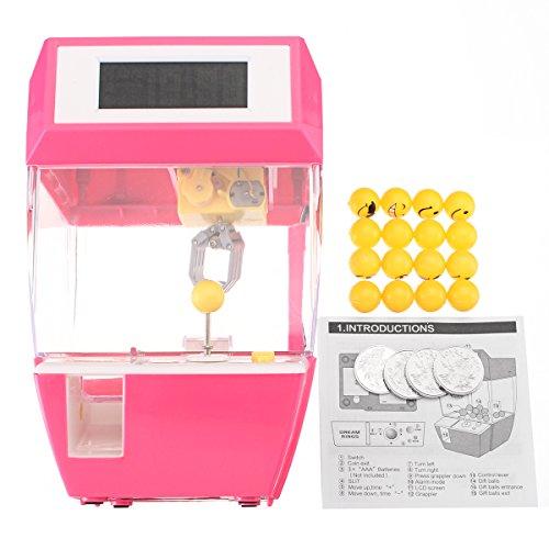 MYAMIA Minikran Klaue Maschine Münze Betriebenen Candy Grabber Puppe Kugeln Catcher Alarm Spielzeug-Rose