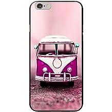 Old Camper Van carcasa rígida para teléfonos móviles, plástico, Old Pink Camper Van, Apple iPhone 6 PLUS