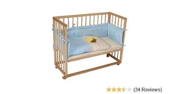 Beistellbett babybett inkl. 8 teiligem zubehör blau: amazon.de: baby