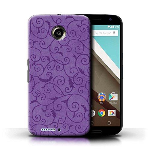 Kobalt® Imprimé Etui / Coque pour Motorola Nexus 6 / Rouge conception / Série Motif de la vigne Pourpre