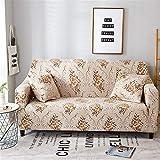 FFKLLL,Sesselschoner,Schonbezug Sesselschutz,toller Qualität Sessel,Sofaschonbezug Sofa Überwurf Sofa - 2 Sitzer Braun/Beige (Farbe2,145-185cm)