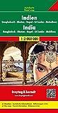 India, Nepal, Bangladesh, Sri Lanka, Bután, Madivas, mapa de carreteras. Escala 1:20.000.000. Freytag & Berndt. (Auto karte)
