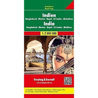 India-Nepal 1:2.000.000: Wegenkaart 1:2 750 000