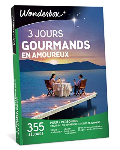 WONDERBOX - Coffret cadeau - 3 JOURS GOURMANDS EN AMOUREUX Wonderbox