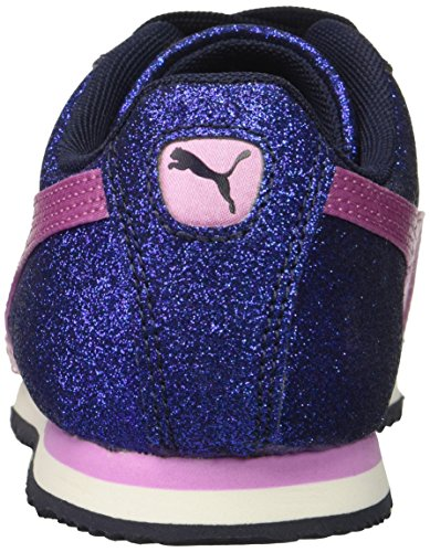 PUMA Unisex-Kids Roma Glamour Sneaker  Peacoat-Orchid  1 M US Little Kid